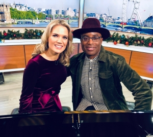 A duet with Alexis Ffrench on GMB!
